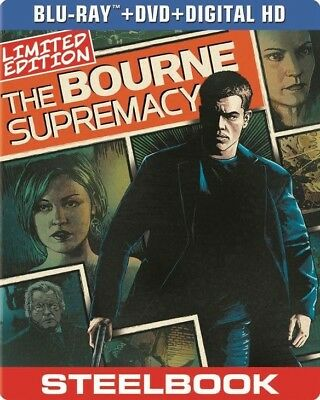 New! The Bourne Supremacy Limited Edition Steelbook (Blu-ray & DVD)