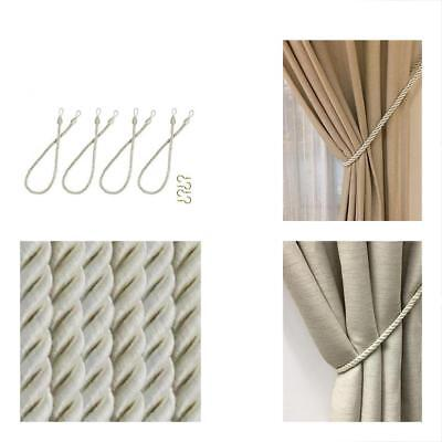 Home Queen Rope Tie Backs For Window Curtain With 4 Metal Screw Hooks H Knitting