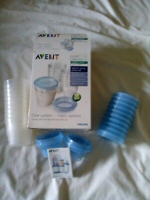 Avent Breast Milk Storage Pots (compatible With Avent Breast Pumps)