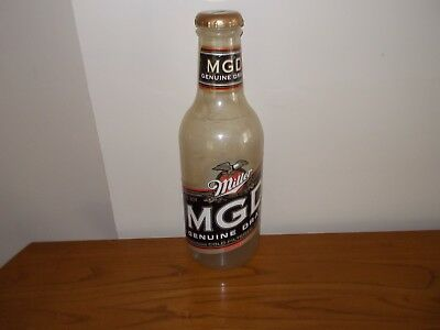 Miller Genuine Draft MGD large plastic bottle coin collector piggy bank