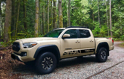 2X Toyota Tacoma TRD PRO side bed Vinyl Decals graphics rally sticker