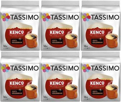 6 × Tassimo Kenco 16-pack large T-Discs pods (96 discs in total)