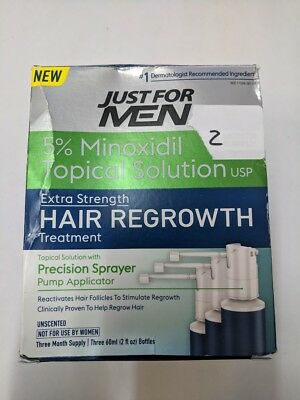 Just For Men Extra Strength Hair Loss Regrowth - OPEN BOX - 2 Months Supply