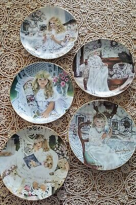Corinne Layton Collector Plates - Heirlooms & Lace Collection - Lot of 5