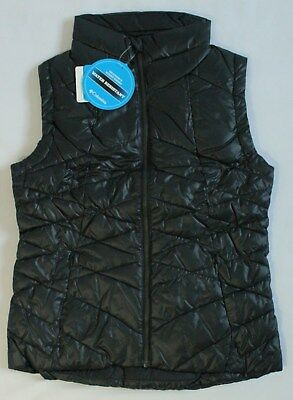 Columbia Womens Size XS or M Point Reyes Vest Puffer Sleeveless Black Fall Vest