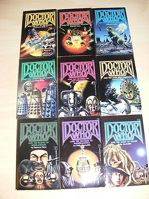Dr DOCTOR WHO 9x Pinnacle Fiction paperback books Nos 1 2 3 4 5 6 7 8 & 10 -1989
