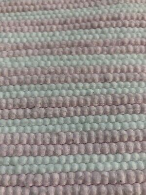 Little White Company Pink White Rug Mat Striped