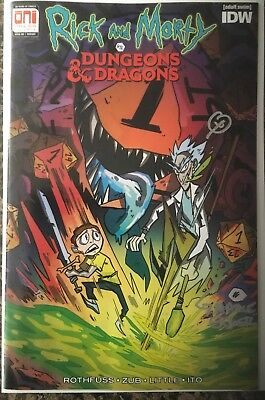 Rick And Morty Vs Dungeons And Dragons #1 Variant PAX West Exclusive signed