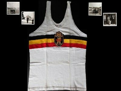 Spectacular Belgium Game Worn 1960 Olympic Games Athletics Jersey Used in Rome