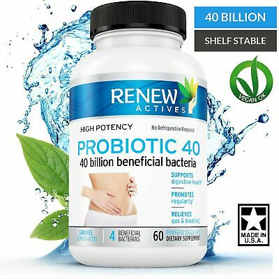 DOUBLE STRENGTH Probiotic 40 Billion - Helps Eliminate Harmful Toxins & Waste