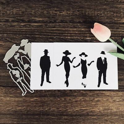 Gentleman beauty Design Metal Cutting Die For Scrapbooking Album Paper Card  ZP