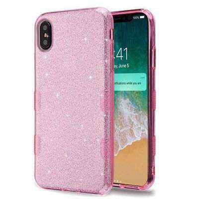 Shockproof Slim Hybrid Bling Glitter Sparkle Case for iPhone Xs Max 2018 - Pink