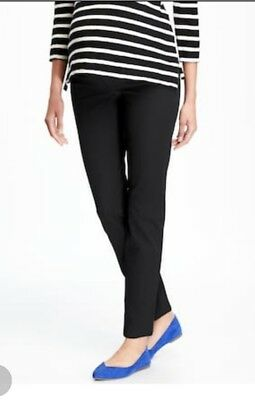 New Old Navy The Pixie Side Panel  Ankle Pants Black SIZE 18 REGULAR
