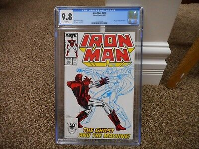 Iron Man 219 cgc 9.8 1st appearance of Ghost WHITE pgs Ant Man Wasp movie MINT