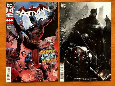 Batman 55 Tony S Daniel Cover + Mattina Variant Set DC Comics 2018 NM+  9/19