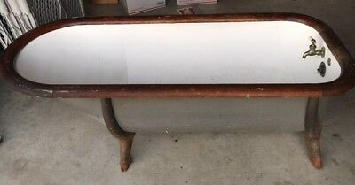 Antique 1800's Cowboy Style Wood Rimmed Galvanized Metal Bathtub Cast Iron Legs
