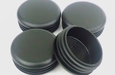 """4 -  2"""" Round Tubing Plastic Plug End Cap 2 Inch Post Hole Pipe 14-20 GAUGETube"""