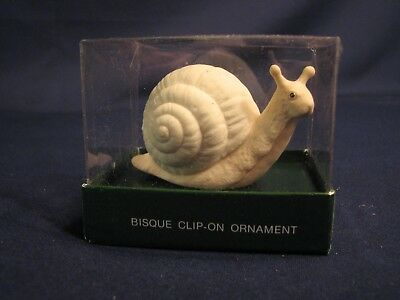 Dept. 56 Bisque Clip-On Ornament, Snail, #83470, combine shipping