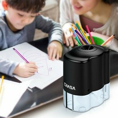 CNASA Electric Pencil Sharpener,Helical Steel Blade Sharpens All Pencils with...