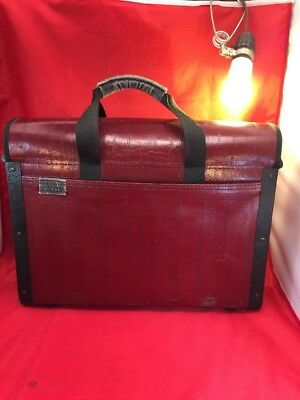 Vintage Platt Catalog Case Brown Large Briefcase Lawyer Pilot Salesman Locking