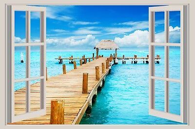 3D Window self-adhesive, removable wallpaper/Photo Tex home decor wall art