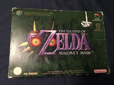 Nintendo 64 N64 The Legend of Zelda: Majora's Mask PAL EUR Version