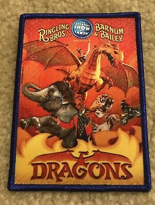 """Ringling Bros Barnum & Bailey Circus """"Dragons"""" Collectible Patch NEW!!"""