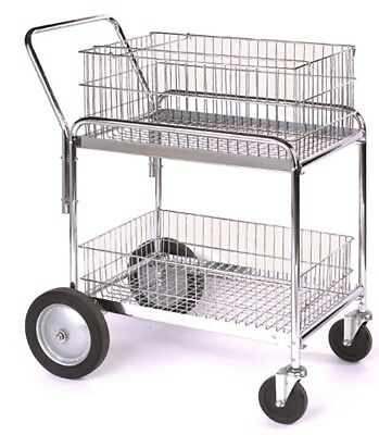 "Wesco Industrial Wire Office Cart Steel Utility Hand Cart 33.5""LX23.75""WX38.25""H"