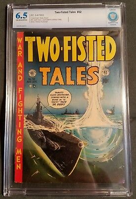 Two-Fisted Tales (1953) #32 CBCS 6.5 EC Wood Cover Davis Craig Wood Kubert