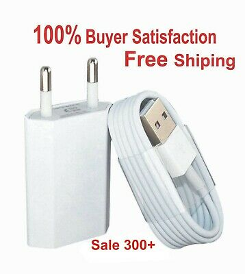 IPHONE CHARGER WITH FAST USB CHARGING SYNC CABLE FOR 5 5S 6 6S SE 7 8 X PlUS EU