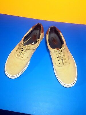 4e7f32be6580 Vans Sneakers Size 11.5 For Man Color Kaky and coffe Denim And Sole White.