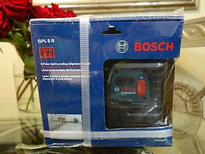 Bosch 5-Point Self-Leveling Alignment 100FT Laser Level  GPL 5 R -Plumb & Square