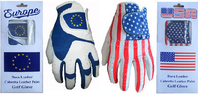 Europe USA Cabretta Leather Golf Gloves Support Ryder Cup 1 2 3 4 5