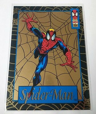 1994 Fleer Amazing Spider-Man Limited Edition Gold Web card 6 Walmart exclusive