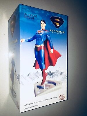 New Superman Returns Resin Statue Figure In Flight Man Of Steel Gentle Giant
