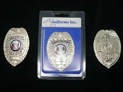 PB801 Security Officer Badge. Silver Color Real Deal. Heavy Duty! FREE Shipping!