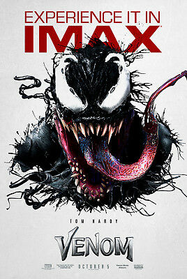 "Venom Art Poster 48x32"" 36x24"" IMAX Tom Hardy 2018 Movie Film Print Silk"