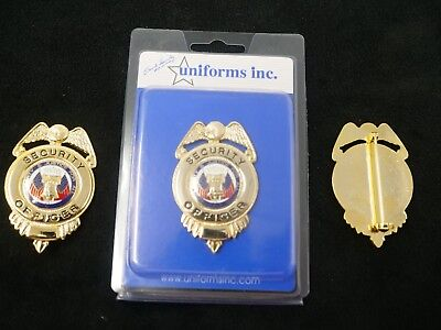 PB300 Security Officer Badge. Gold Color. Real Deal. Heavy Duty! FREE Shipping!