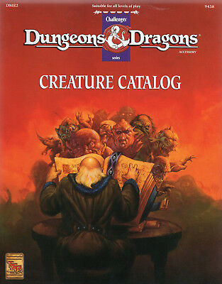 D&D CREATUREN CATALOG * Challenger Series * RAR-Book = wieNEU & Original