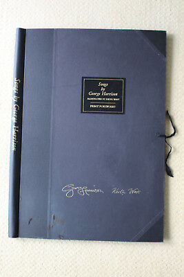 PORTFOLIO for 3 SIGNED PRINTS Songs by GEORGE HARRISON & K.WEST 230/850 BEATLES