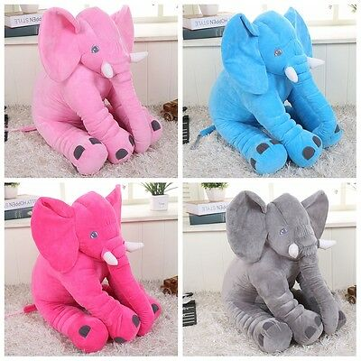 Cute Pillow Long Nose Elephant Plush Toy For Kids Soft Stuff Doll Baby Gifts
