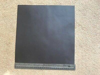 """Brand new brown leather section. 12""""x12"""" Make a lovely skiver for writing slope"""