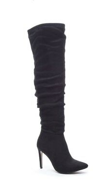 Chinese Laundry Stunning Over The Knee Stiletto Boots Black 7.5 New In Box
