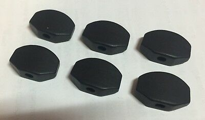 Genuine Ebony Tuning Machine Button Black set 6 for Grover Schaller Guitar Tuner