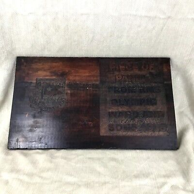 White Star Line RMS Olympic Carved Wooden Panel Salvaged Wood Plaque