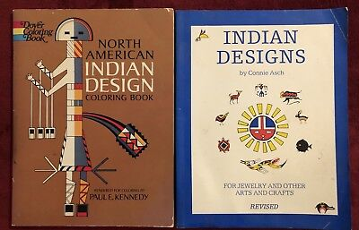 Lot of 2 Native American Indian Design Books - Free Shipping