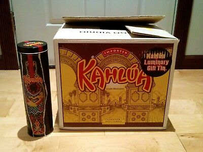 NEW 12-Pack Case Kahlua Liqueur Holiday Limited Edition 2 Luminary Party Tins