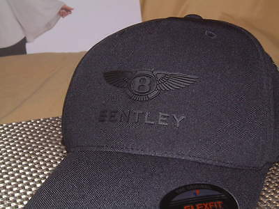 Bentley Collection 2017 Technical Cap Hat In Black W/double Winged B & Script!