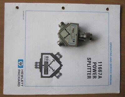 Power Splitter HP 11667A + Manual