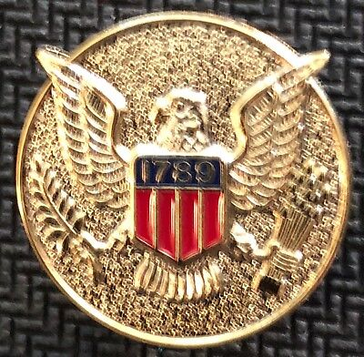 USMS - US Marshals Service 3/4in badge center VERY RARE gold version lapel Pin